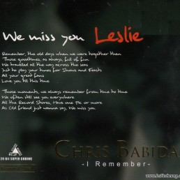 2007. Chris Babida - I Remember - Leslie